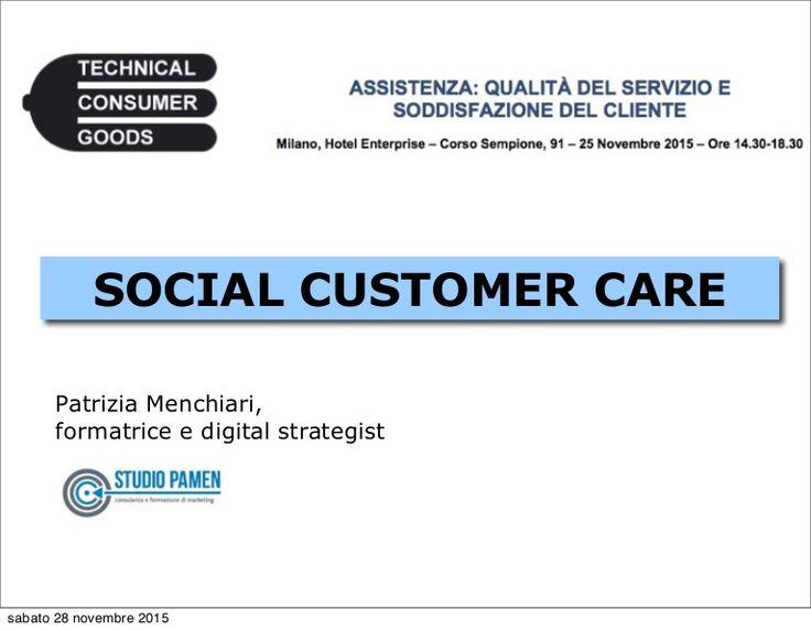 Customer Care sui social media