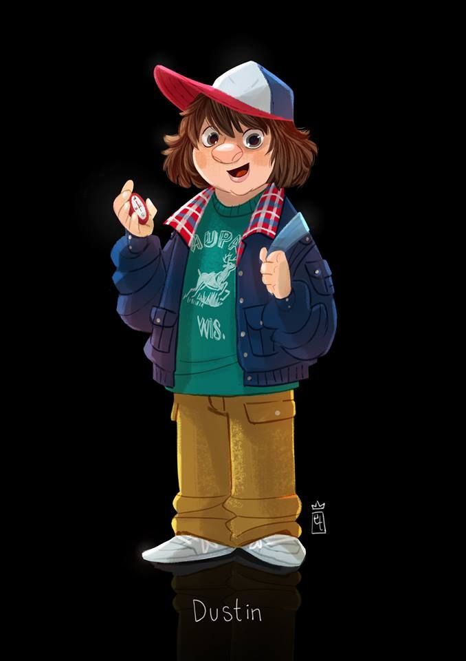 """Dustin """"Toothless"""" from """"Stranger Things"""". He reminded me of myself when I was younger. The pudding scene reminded me so much…"""