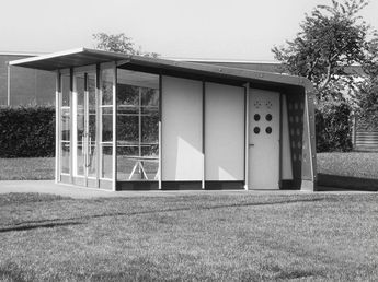 jean prouve - petrol filling station office, vitra museum, weil am rhein, germany, 1951