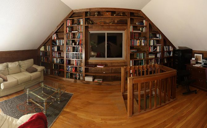if you're a big reader, creating your very own library is a great use of a loft conversion.