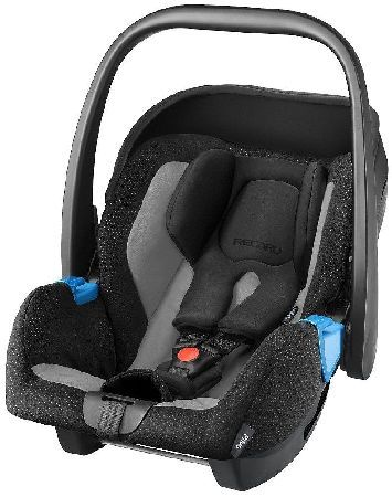 Recaro - Privia Childseat - Graphite The Privia infant carrier boasts the revolutionary HERO harness safety system in which the integrated headrest shoulder support and belts combine into one unit providing crucial support for your child http://www.MightGet.com/january-2017-12/recaro--privia-childseat--graphite.asp