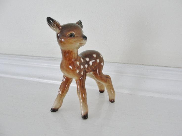 Vintage Deer Figurine, Vintage Goebel Porcelain Deer Fawn ...