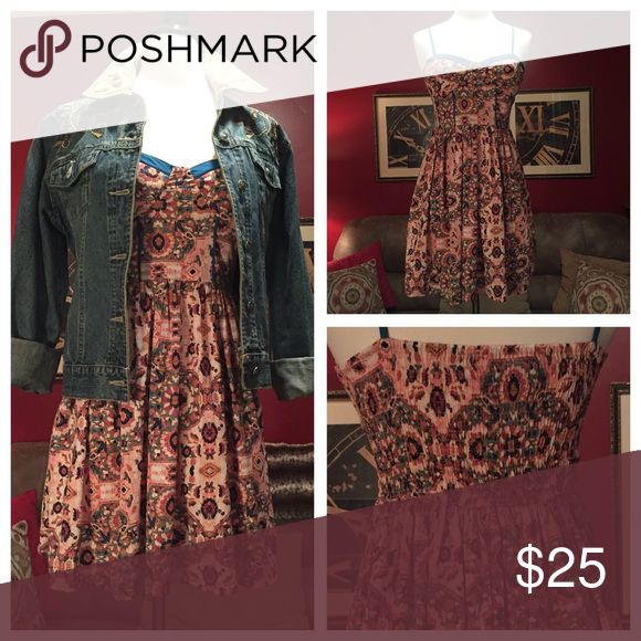 Cowboy boots, cowboy hat and Toby Keith! Perfect little boho sundress for your boot scootin' boogie night! Band of Gypsies Dresses Midi