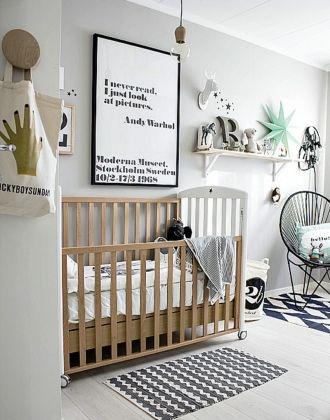 Chambre bébé grise