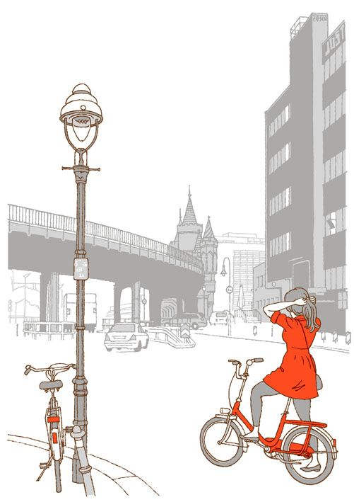 die besten 25 bike illustration ideen auf pinterest fahrrad zeichnung fahrrad zeichnung und. Black Bedroom Furniture Sets. Home Design Ideas