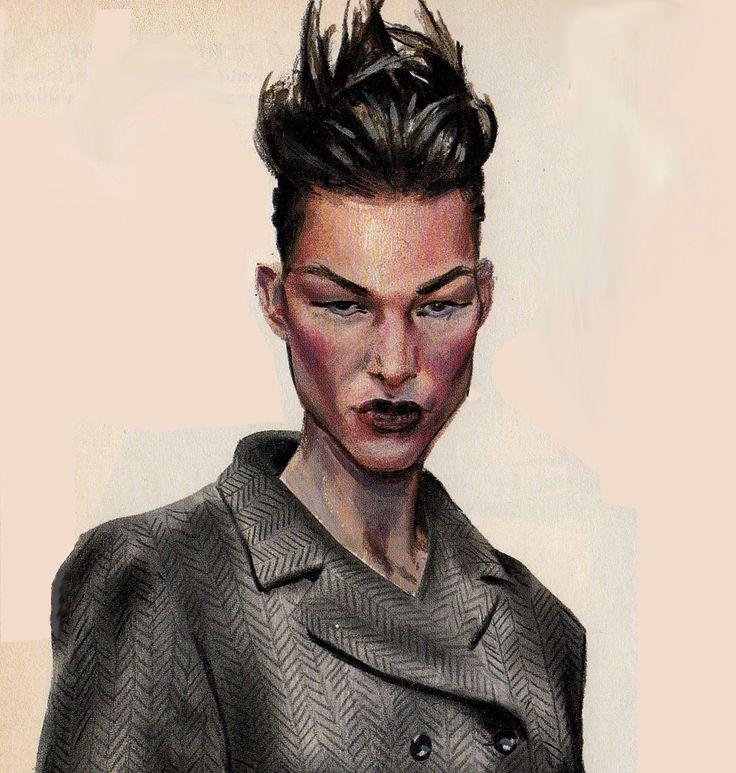 Fashion painting by Massimo Navarra