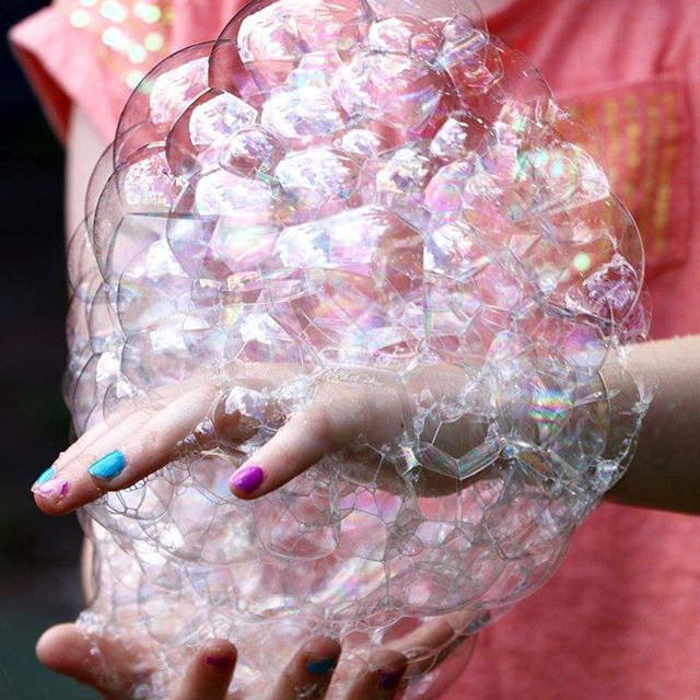 Amazing bubbles! You can never get too old for them, we've been experimenting with recipes and ideas this week #bubbles