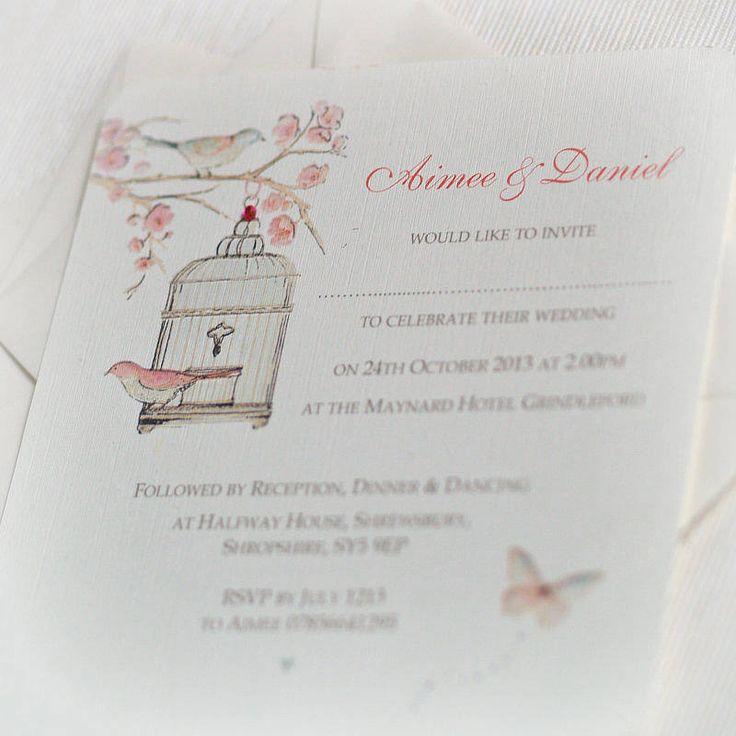 cherry blossom wedding invitations by beautiful day | notonthehighstreet.com