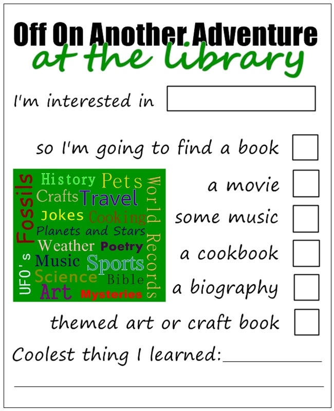 turn the library into an adventure for the kids with this checklist