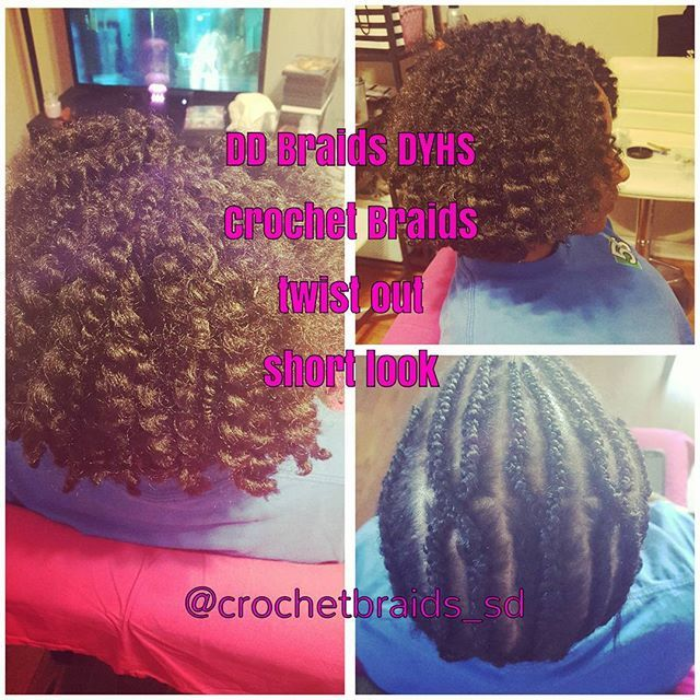 for short hair photos A cute protective Style crochet braids ...