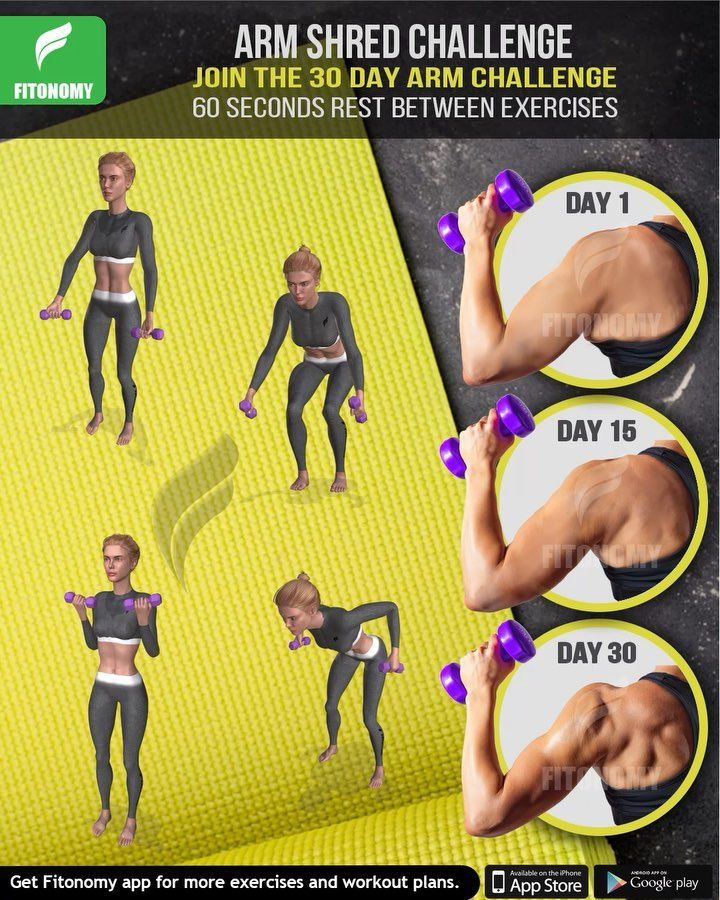 """Fitness App on Instagram: """"Join the 30 Day Arm Shred"""