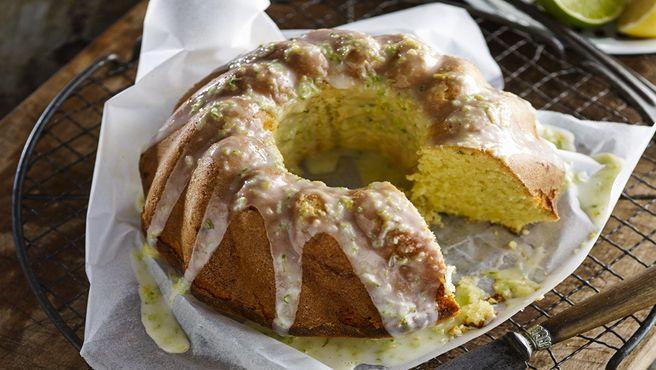 Lemon, lime and coconut cake