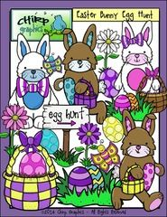 Win a free set of Easter Clip Art! - Bunnies, eggs, baskets and more!  Enter to win this set of 40 png images for Easter!  .  A GIVEAWAY promotion for Easter Bunny Egg Hunt Clip Art Set - Chirp Graphics from Chirp Graphics on TeachersNotebook.com (ends on 3-14-2015)