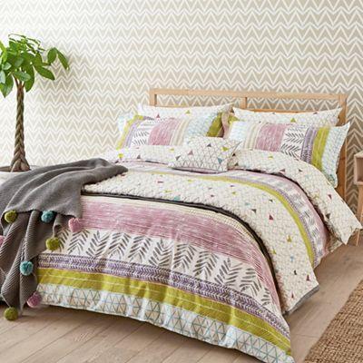 Scion Multicoloured cotton 'Raita Stripe' bedding set | Debenhams