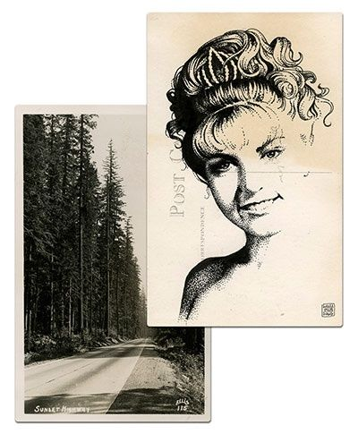 Twin Peaks postcards by Paul Willoughby - Laura Palmer