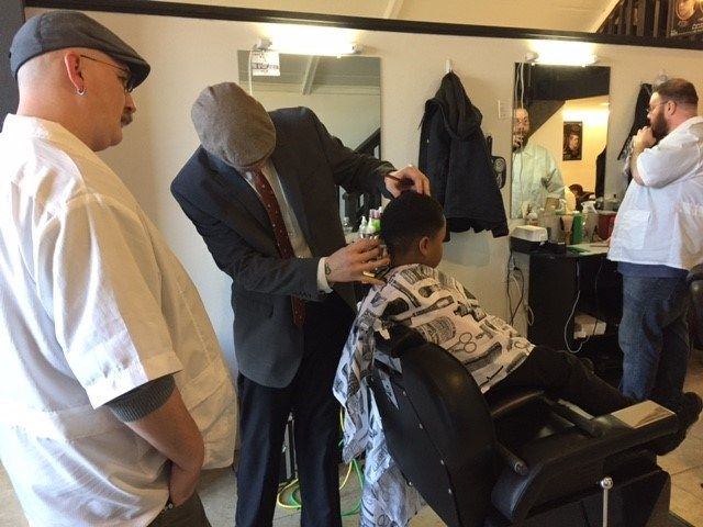 Lockhart Barber School Donates haircuts