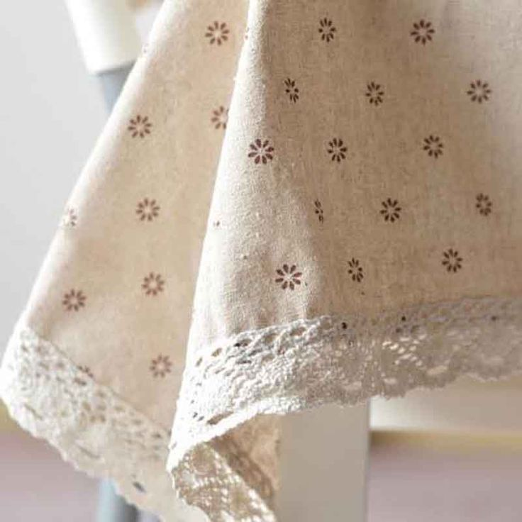 Table Cloth Hot Linen Rural Pastoral Home Cover Desk Towels Rectangle  Dust Proof Flower Cherry