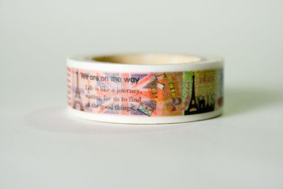 Travel Masking Tape Washi Tape by HexagonInc on Etsy, $3.50