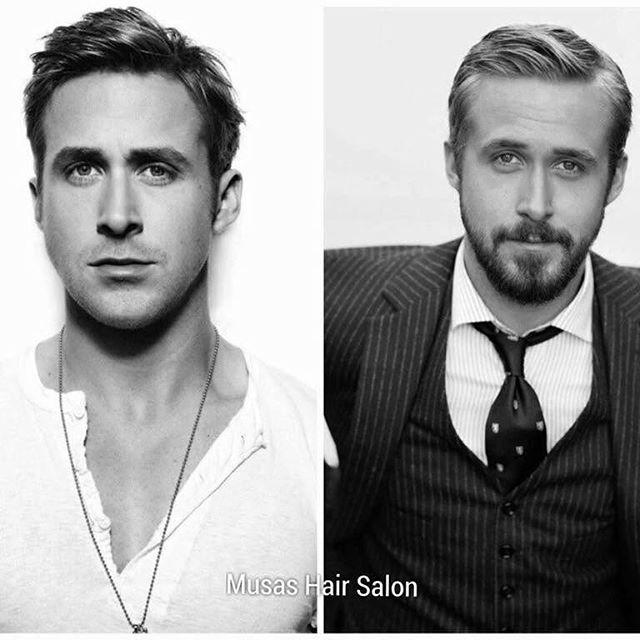 ¿Apostaste por un look con barba? ¡Combínalo con un corte de cabello que te ayude a resaltar tu estilo!  Ve este claro ejemplo de #RyanGosling que sin barba no da la apariencia de niño, si no de adulto y atractivo. 😎  #MusasHairSalon #Caballero #Viernes #FinDeSemana #Querétaro #bienhecho #amor #guapo #adulto #barba #diciembre #porfin