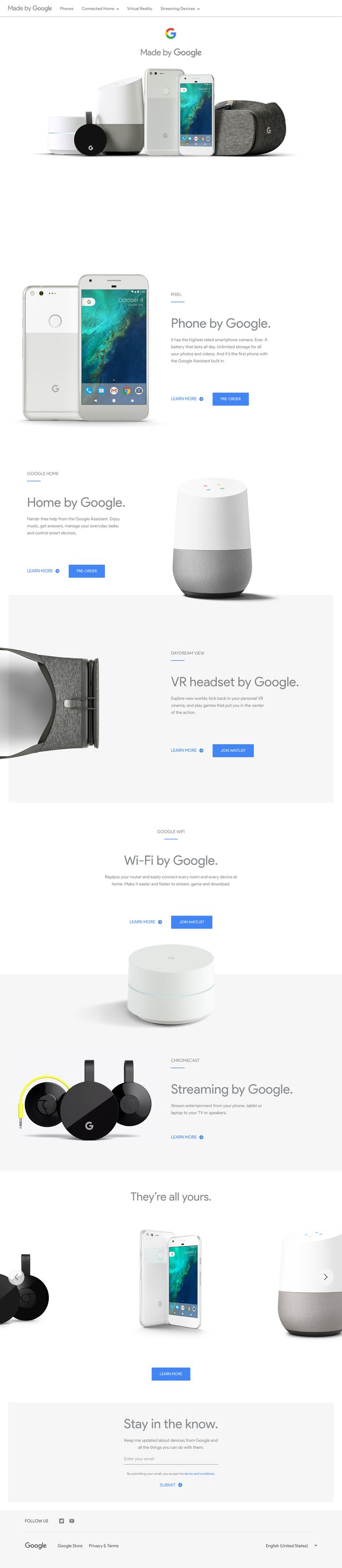 Made By Google   Meet The Newest Members Of The Google Family. #webdesign  #web #design #UI #UX #inspiration #layout #creative #landing #home #flat  #material ...