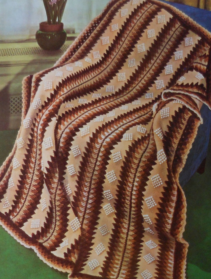 Crochet Pattern Southwestern Afghan : Vintage Southwest Style Afghan Crochet Pattern vintage ...