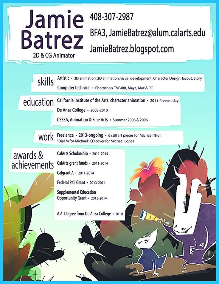 56 best Resumes Outside Of The Box images on Pinterest Resume - animation resume