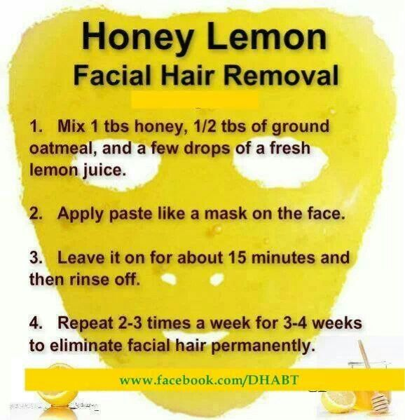 Remedies for removing facial hair