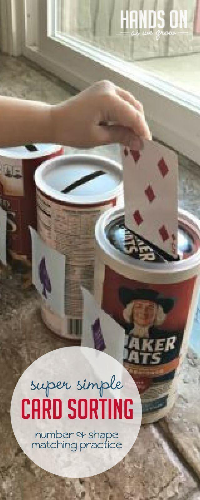 Simple and Fun Card Sorting Slot Activity