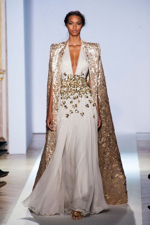 Zahir Murad Note to self: great dress...simple and stunning...the evening coat/cape is perfect.
