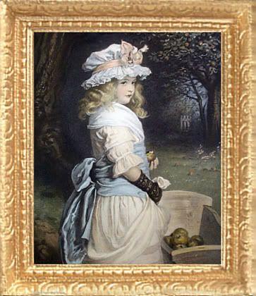 folk victorian window frames | Details about VICTORIAN GIRL Dollhouse Picture FRAMED Art Miniature