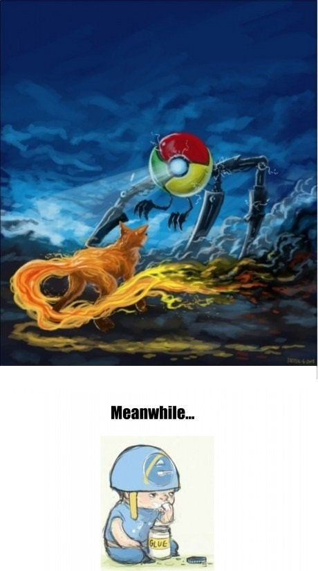Meanwhile on internet explorer