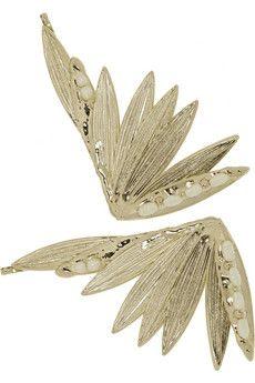 Rosantica Apache Set aus zwei in Gold getauchten Haarklammern mit Perlen   NET-A-PORTER