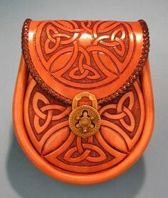 Carved pouch with #celtic design! #ireland #celticculture