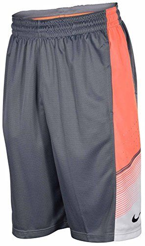 Nike Men's Dri-Fit Elite World Tour Basketball Shorts-Silver/Coral