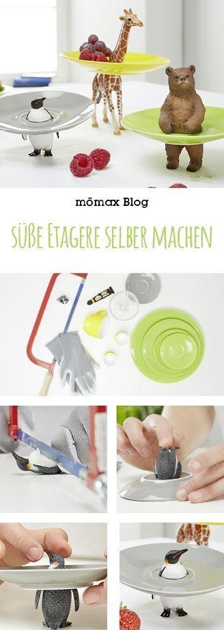Süße Etagere selber machen! Mit Plastikfiguren und Geschirr! DIY