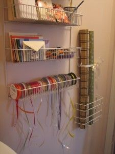 Ribbon Storage -  pull each individual ribbon through the rack to keep any tangling at bay.