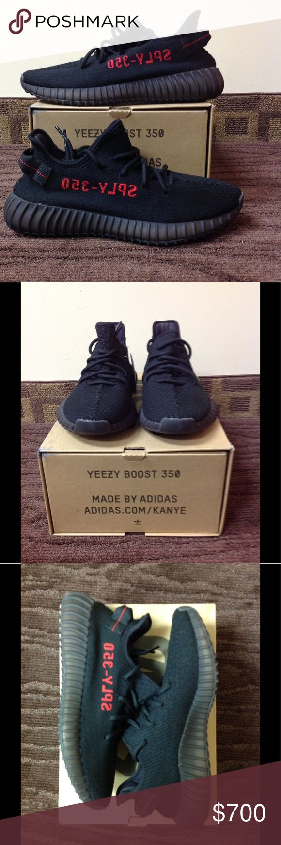 """Adidas Yeezy Boost 350 V2 """"Bred"""" UK Release...Condition 9.5/10...worn once, can pass as deadstock adidas Shoes Sneakers"""