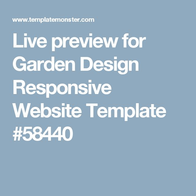 Live preview for Garden Design Responsive Website Template #58440