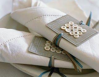 button card napkin rings