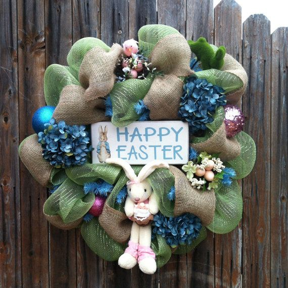Hey, I found this really awesome Etsy listing at https://www.etsy.com/listing/178805346/deco-mesh-easter-wreath-bunny-sign-bird