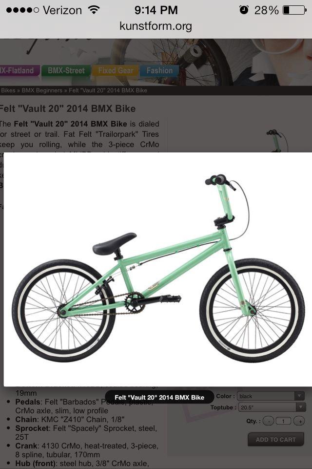 My 2014 Felt BMX ❤️
