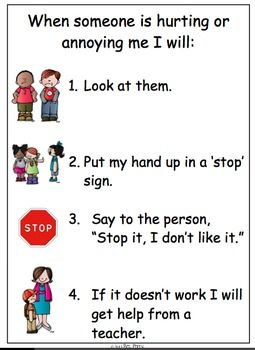 Stop it, I dont like it poster social story book