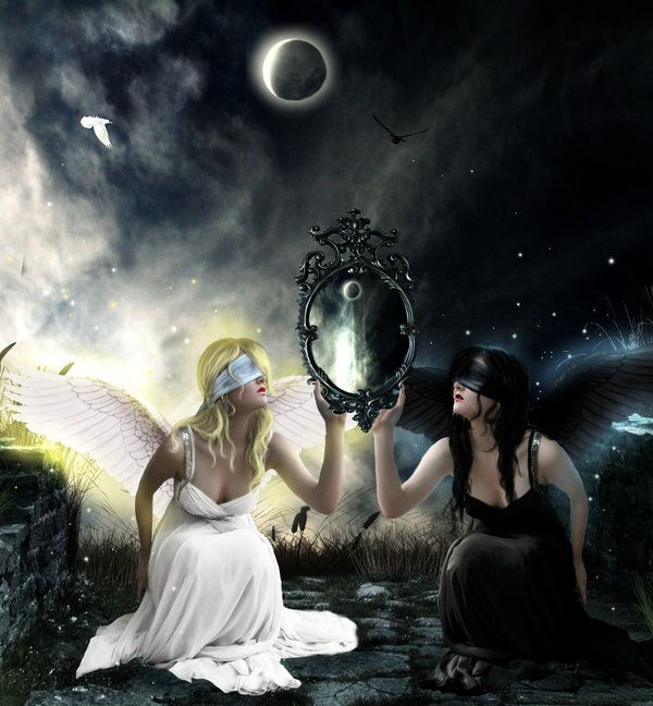Mirror of Good and Evil by ~AntonellaB on deviantART