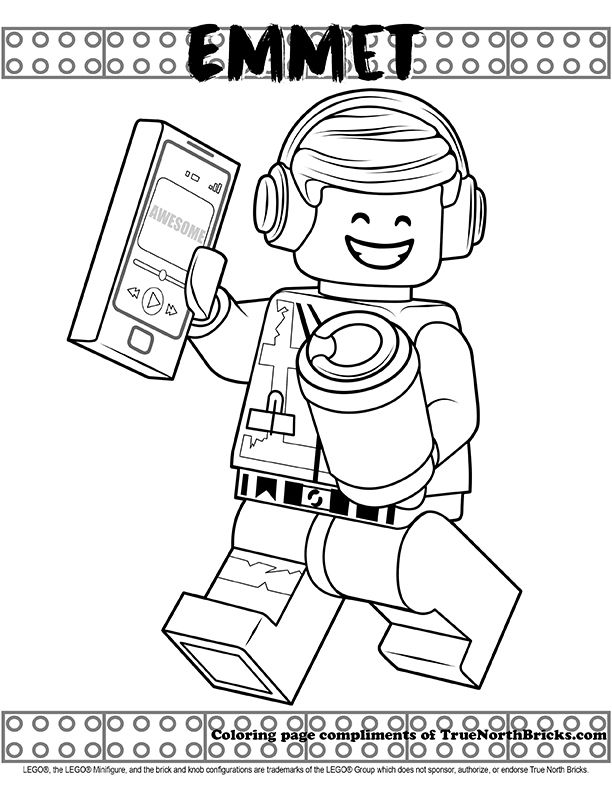 Coloring Page Emmet Coloring Pages Lego Coloring Pages Color
