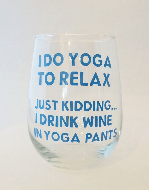 For when you pretend you're athletic. | 21 Wine Glasses You Actually Need In Your Life
