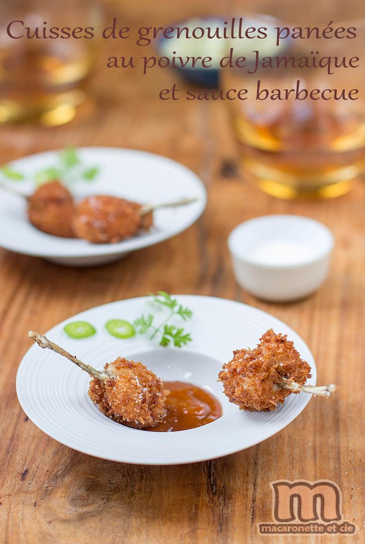 Cuisses de grenouille panées au poivre de Jamaïque et sauce barbecue maison - Macaronette et cie