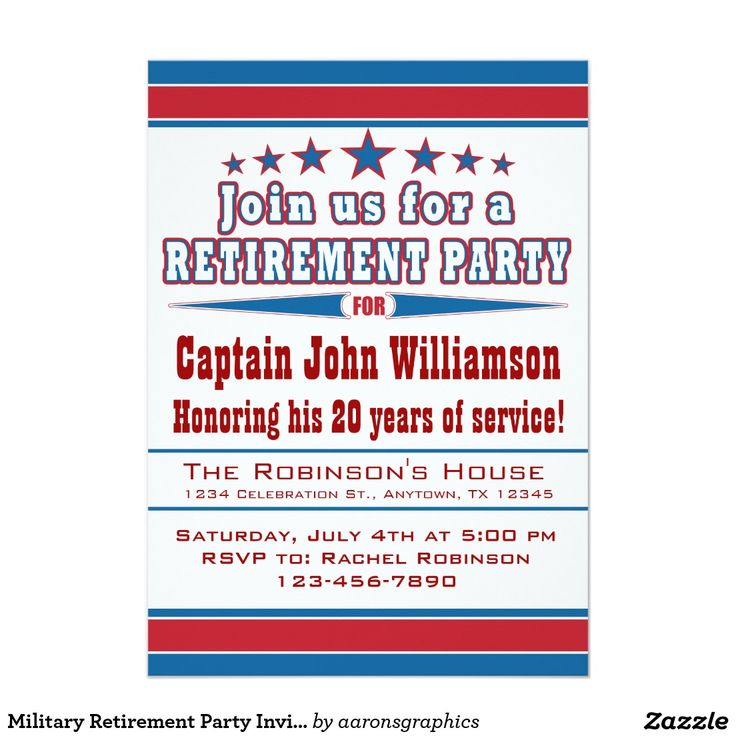 Best Military Retirement Party Invitations Images On