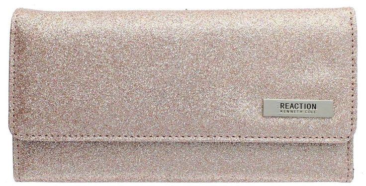 102522-755 Kenneth Cole Reaction Trifold Clutch Tri-Ed & True Glitter Rose New #Generic