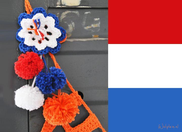 Bloem met pompoms haken #haken #crochet #wk
