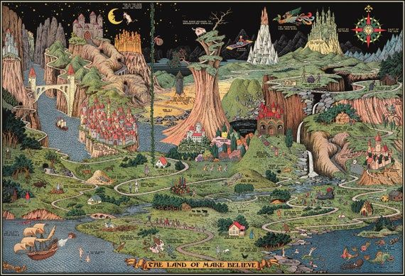 The Land Of Make Believe By Jaro Hess 1930 Jaro Poster Prints Fairy Tales